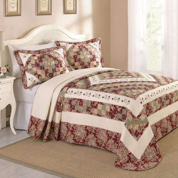 Peking Handicraft Mary Lu Cotton Bedspread (Shams sold seperately)