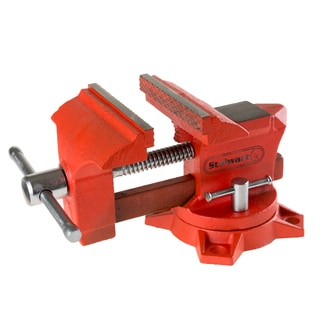 Vice Workshop Bench Clamp - Heavy Duty Bolt Down Locking with Swivel Base and Anvil by Stalwart