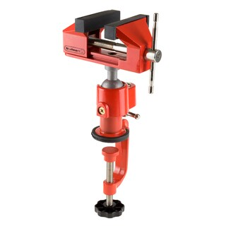 2.25 Inch Jaw 360° Swivel Table Vise Rubber Jaws Aluminum Ball By Stalwart