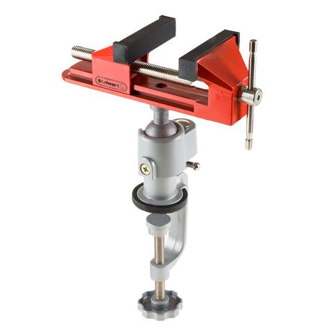 3 Inch Jaw 360 Swivel Table Vise Rubber Jaws Aluminum Ball By Stalwart