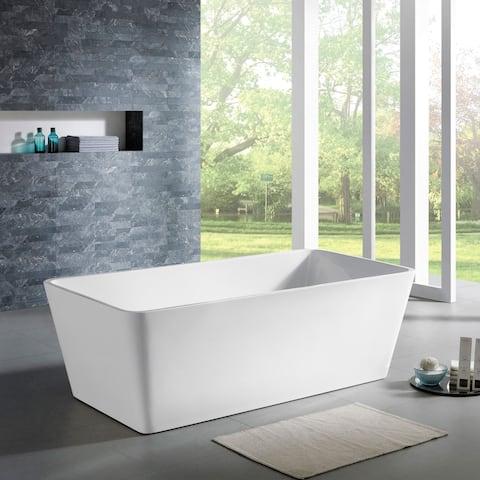 Maykke 67 Inch Norris Freestanding Bathtub