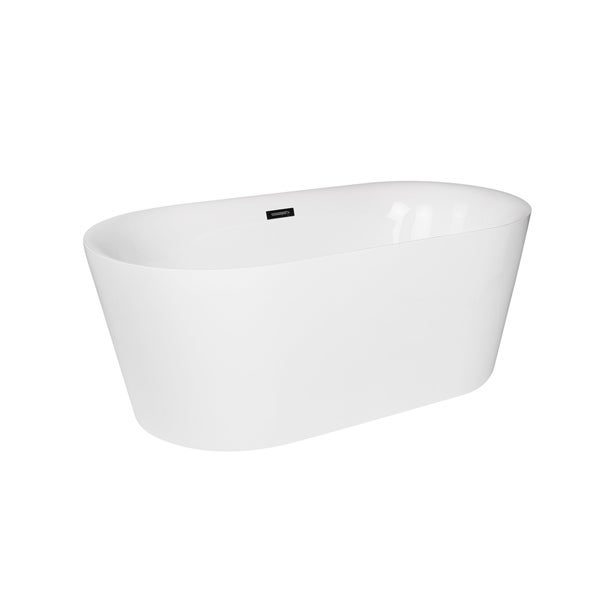 deep freestanding soaking tub. Maykke Dewey 59 Inch White Oval Deep Soaking Freestanding Tub  Free