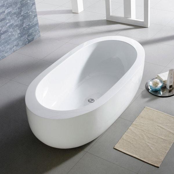 Shop Maykke 72 Inch Bexley Freestanding Bathtub - Free Shipping ...