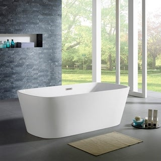 Maykke 67-inch Canaveral White Freestanding Bathtub