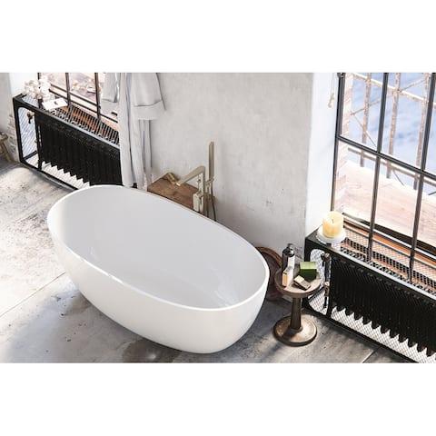 Maykke 61 Inch Barnet Freestanding Bathtub