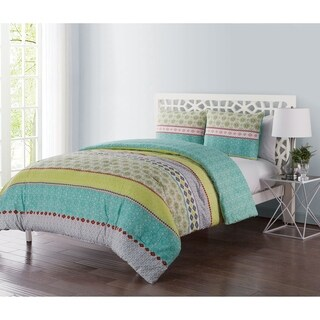 VCNY Home Dharma Reversible 3-piece Duvet Set