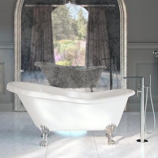 extra large clawfoot tub.  Maykke Soaking Tubs For Less Overstock com