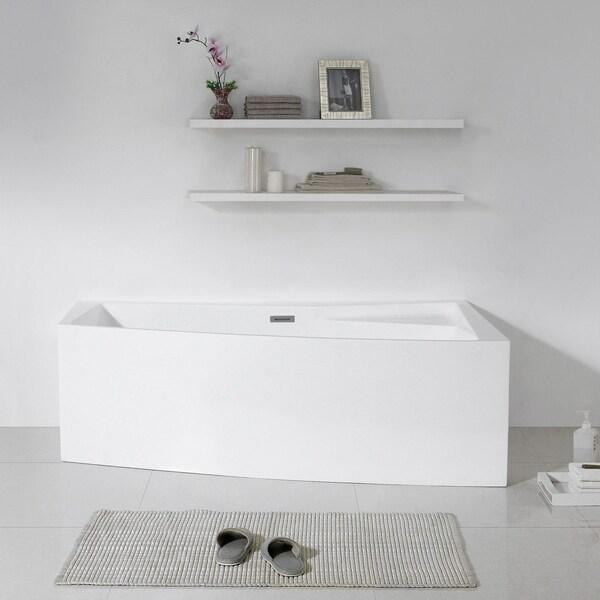 Shop Maykke 70 Inch Encino Freestanding Bathtub Free