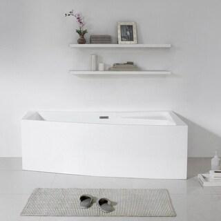 Maykke 70-inch Encino White Freestanding Bathtub