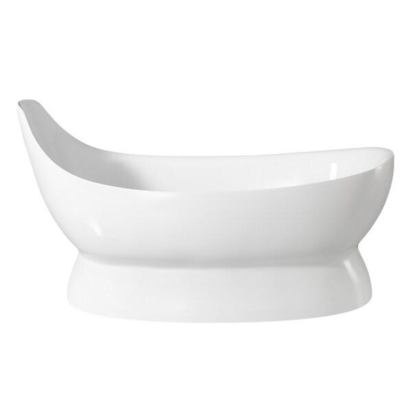 Maykke 67 Inch Carson Freestanding Bathtub