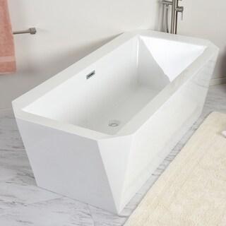 Maykke 67 Inch Calabasas Freestanding Bathtub