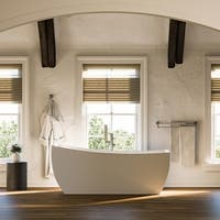 Maykke 67 Inch Malibu Freestanding Bathtub