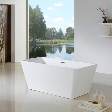 Maykke 66 Inch Burbank Freestanding Bathtub