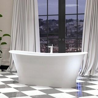 Maykke 70 Inch Montebello Freestanding Bathtub
