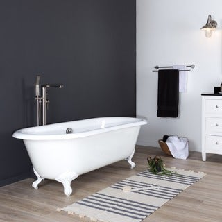 Maykke 67 Inch Shirley Clawfoot Bathtub