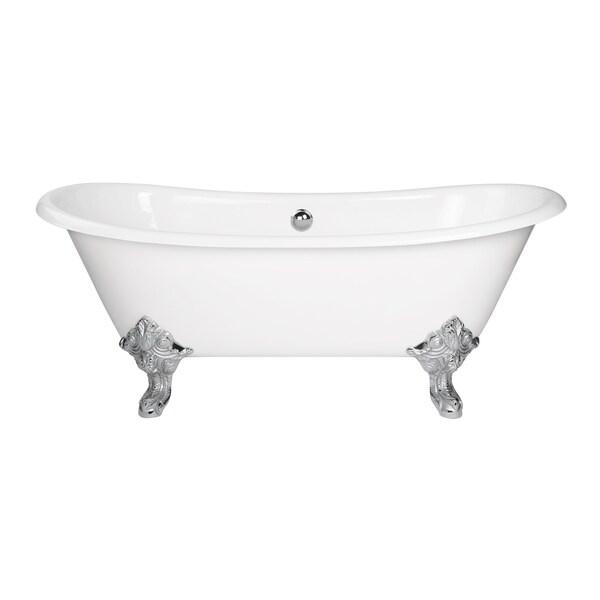 Maykke 70 Inch Katharine Clawfoot Bathtub