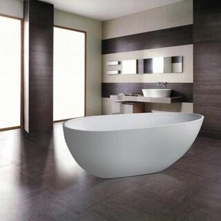 Maykke 67 Inch Naples Freestanding Bathtub
