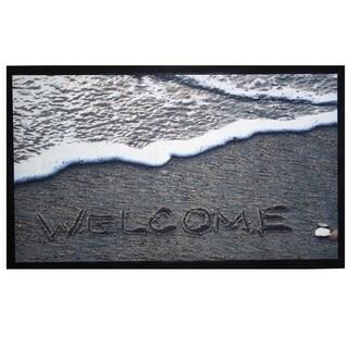Home Fashion Designs Bora Bora Collection Printed Outdoor Beach Theme Welcome Mat