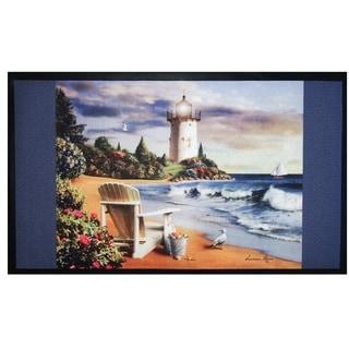 Home Fashion Designs Bora Bora Collection Lighthouse Theme Outdoor Welcome Mat