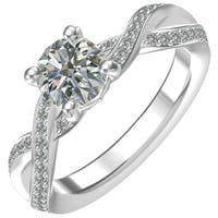 Sterling Silver 1 1/14ct Cubic Zirconia Engagement Ring