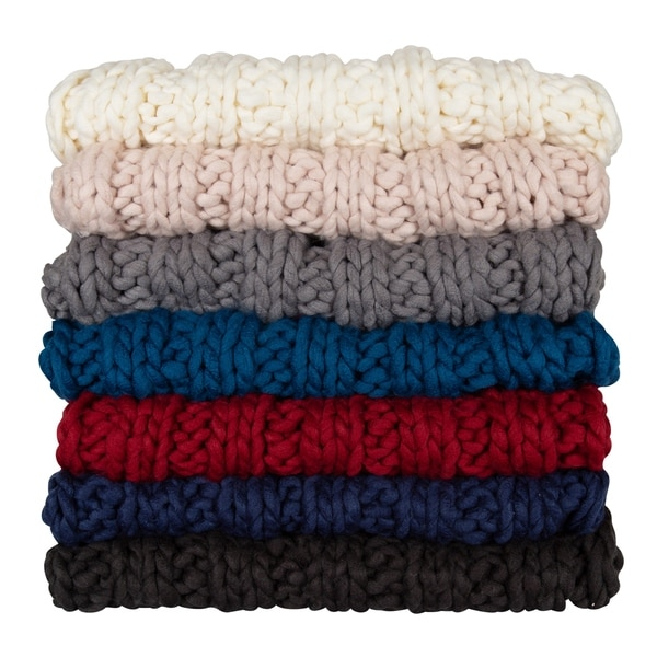 Kate and Laurel Chunky Knit Throw. Opens flyout.