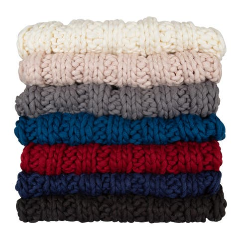 Kate and Laurel Chunky Knit Throw