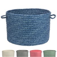 Cotton Blend Printed Fabric Storage Baskets
