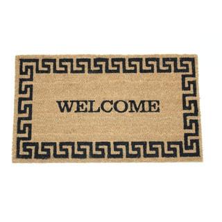 Welcome Greek Key Coir 17 x 29-inch Door Mat