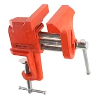 """Clamp On Vise with 3 Inch """"V"""" Jaw- Cast Iron Workbench Clamping Tool for Precision, DIY, Small Repairs and More By Stalwart"""