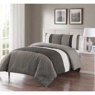 VCNY Home Edgemont Embossed 3-piece Comforter Set