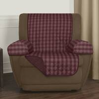 """Maytex Reversible Buffalo Check 3-Piece Recliner Furniture Cover - 25x69"""" without arms"""