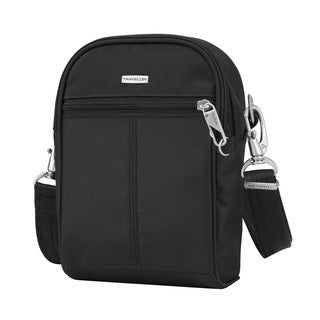 Travelon Black Anti Theft Classic Small Tour Crossbody Bag