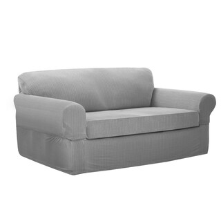 Maytex Connor Stretch 2-Piece Loveseat Slipcover (3 options available)