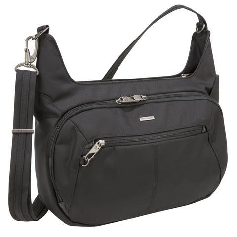 Travelon Black Anti-theft Concealed Carry Hobo Bag