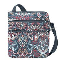 Travelon Boho Summer Paisley Anti-theft Slim Crossbody Bag