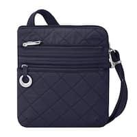 Travelon Boho Navy Ant-Theft Slim Crossbody Bag