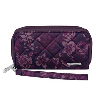 Travelon Women's Boho Purple Cotton Wallet