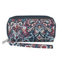 Travelon Women's Boho Summer Paisley Cotton Wallet
