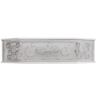 Varaluz Fascination 2-light Metallic Silver Hex Bath Fixture with Clear Recycled Glass