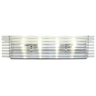 Varaluz Empire State 4-light Polished Stainless Steel Bath Fixture with Clear Premium Bohemian-style Crystal Rods