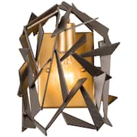 Varaluz Bermuda 1-light Antique Gold/Rustic Bronze Wall Sconce
