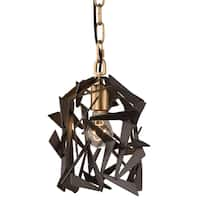 Varaluz Bermuda 1-light Antique Gold/Rustic Bronze Mini Pendant
