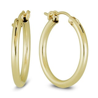 Marquee Jewels Yellow Gold Filled 22 mm Hoop Earrings