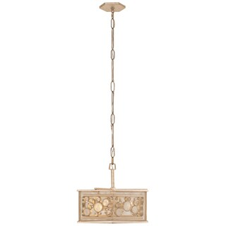Varaluz Fascination 3-light Zen Gold Hex Pendant with Champagne Recycled glass