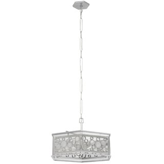 Varaluz Fascination 6-light Metallic Silver Hex Pendant with Clear Recycled glass