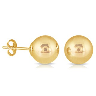 Marquee Jewels Yellow Gold Filled Ball Earrings