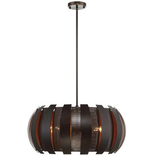 Varaluz Sawyers Bar 4-light Two-Tone Copper Ore Pendant