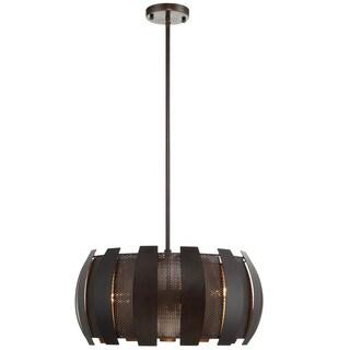 Varaluz Sawyers Bar 3-light Two-Tone Copper Ore Pendant