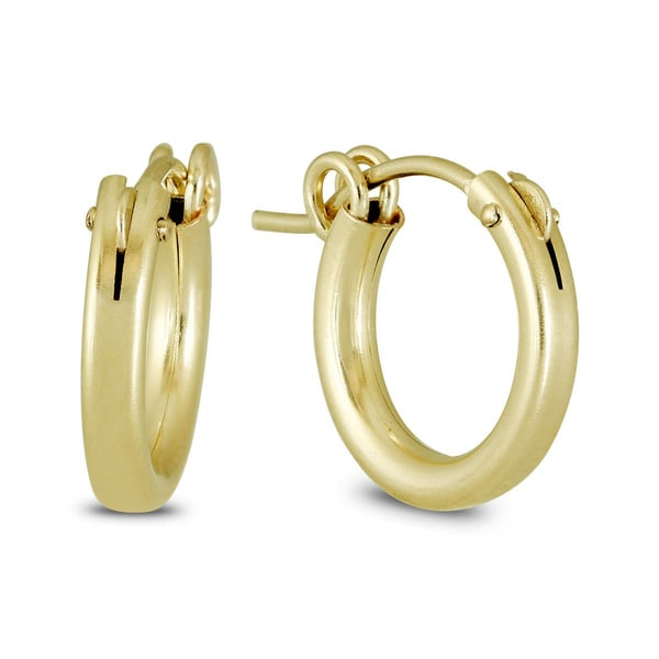 28dc8d6f0d928 Shop Marquee Jewels 14k Yellow Gold Filled Hoop Earrings - On Sale ...