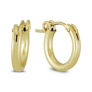 Marquee Jewels Yellow Gold Filled Hoop Earrings